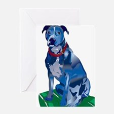 Blue Pit no background Greeting Card