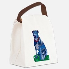 Blue Pit no background Canvas Lunch Bag