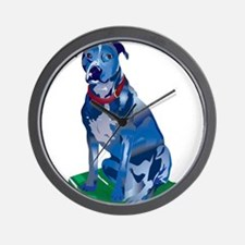 Blue Pit no background Wall Clock
