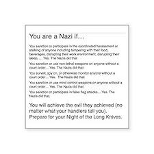 """Anti New American Nazis Square Sticker 3"""" x 3"""""""