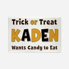 Kaden Trick or Treat Rectangle Magnet