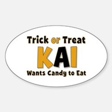 Kai Trick or Treat Oval Decal