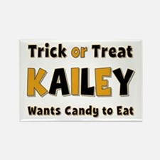 Kailey Trick or Treat Rectangle Magnet
