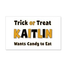 Kaitlin Trick or Treat 20x12 Wall Peel