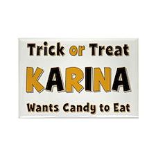 Karina Trick or Treat Rectangle Magnet