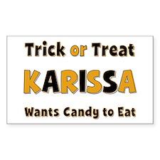 Karissa Trick or Treat Rectangle Decal