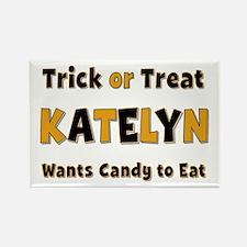 Katelyn Trick or Treat Rectangle Magnet