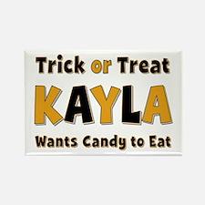 Kayla Trick or Treat Rectangle Magnet