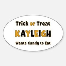 Kayleigh Trick or Treat Oval Decal