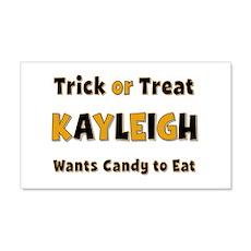 Kayleigh Trick or Treat 20x12 Wall Peel