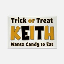 Keith Trick or Treat Rectangle Magnet