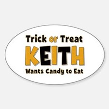 Keith Trick or Treat Oval Decal