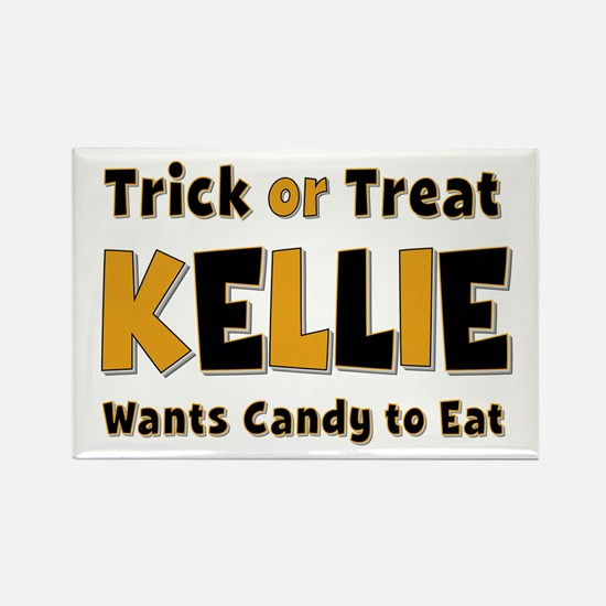 Kellie Trick or Treat Rectangle Magnet