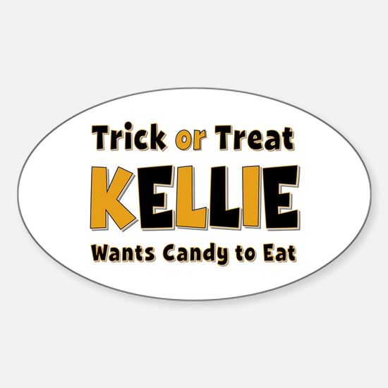Kellie Trick or Treat Oval Decal