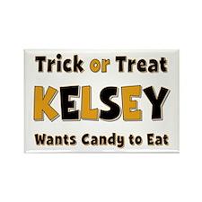 Kelsey Trick or Treat Rectangle Magnet