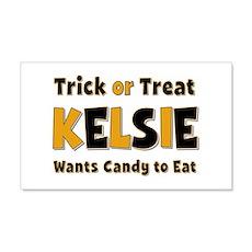 Kelsie Trick or Treat 20x12 Wall Peel