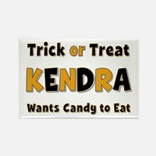Kendra Trick or Treat Rectangle Magnet