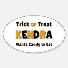 Kendra Trick or Treat Oval Decal