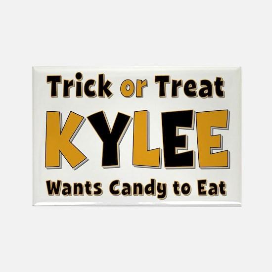 Kylee Trick or Treat Rectangle Magnet