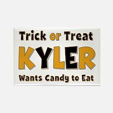 Kyler Trick or Treat Rectangle Magnet