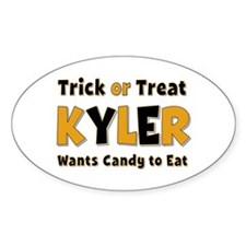 Kyler Trick or Treat Oval Decal