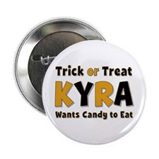 Kyra Trick or Treat Button