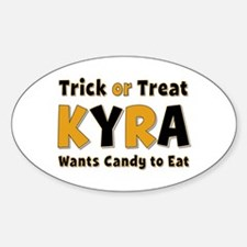 Kyra Trick or Treat Oval Decal