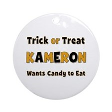 Kameron Trick or Treat Round Ornament