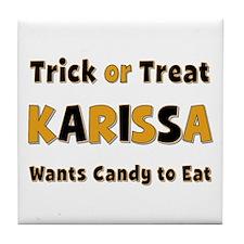 Karissa Trick or Treat Tile Coaster