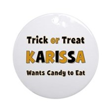Karissa Trick or Treat Round Ornament