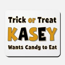 Kasey Trick or Treat Mousepad