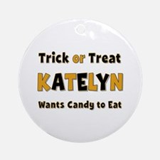 Katelyn Trick or Treat Round Ornament
