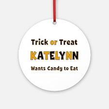 Katelynn Trick or Treat Round Ornament