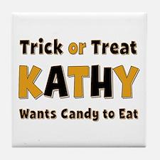 Kathy Trick or Treat Tile Coaster
