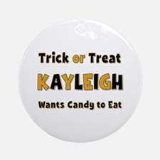 Kayleigh Trick or Treat Round Ornament