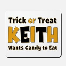 Keith Trick or Treat Mousepad