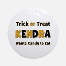 Kendra Trick or Treat Round Ornament