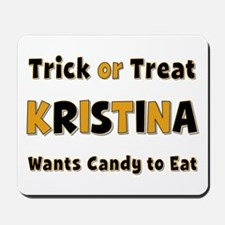 Kristina Trick or Treat Mousepad