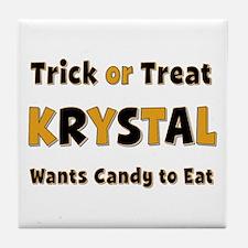 Krystal Trick or Treat Tile Coaster