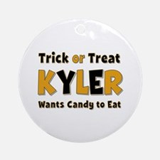 Kyler Trick or Treat Round Ornament