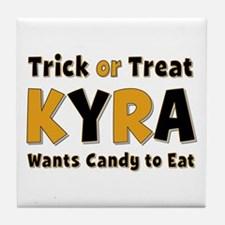 Kyra Trick or Treat Tile Coaster