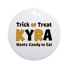 Kyra Trick or Treat Round Ornament