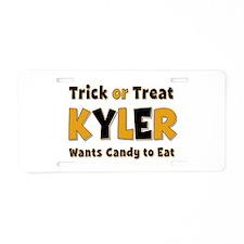 Kyler Trick or Treat Aluminum License Plate