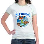 Sledding Jr. Ringer T-Shirt
