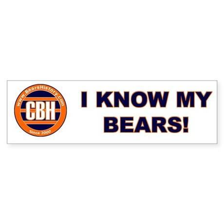BearsHistory.com Bumper Sticker