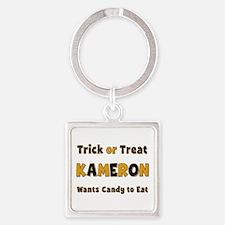 Kameron Trick or Treat Square Keychain