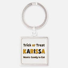 Karissa Trick or Treat Square Keychain