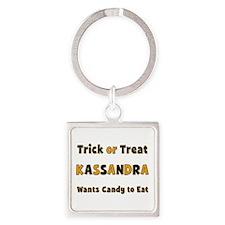 Kassandra Trick or Treat Square Keychain
