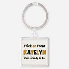 Katelyn Trick or Treat Square Keychain