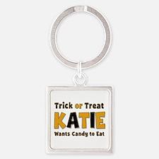 Katie Trick or Treat Square Keychain